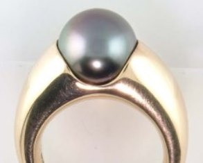 South sea black pearl ring