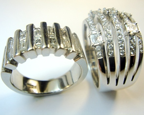 Wide diamond bands