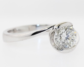 Top Set Diamond Side View Ring