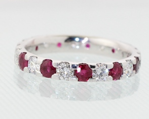 Ruby and diamond eternity